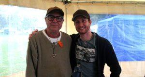 Da sinistra Francesco Vairano, voce di Gollum, e Davide Perino, voce di Frodo